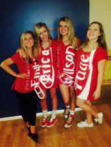 JMU students dressed in Share a Coke Costumes