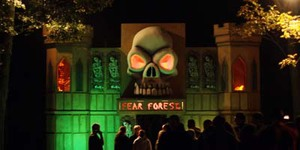 Fear Forest Entrance with skull and castle