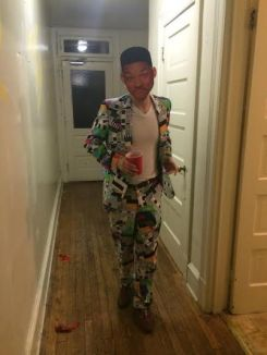 JMU student in Fresh Prince of Bel Air costume