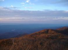 View from peak of Reddish Knob overlooking Harrisonburg.