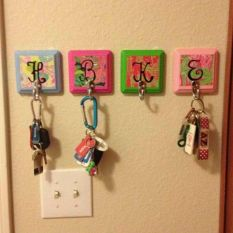 Colorful Key Hangers
