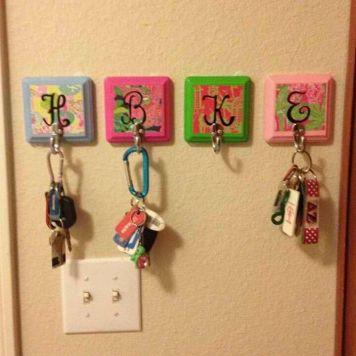 Colorful Key Hangers