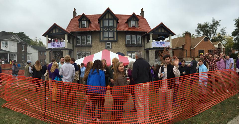 JMU fraternity- gingerbread house