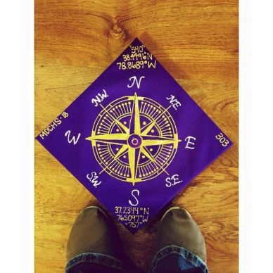 cap with gold compass