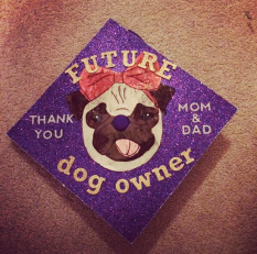 """Pug with the words """"future dog owner"""""""
