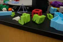 The 3D printing club is selling copies of some of these objects in the JMU bookstore