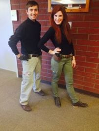 Kim Possible and Ron Stoppable Costumes - Image from Pinterest