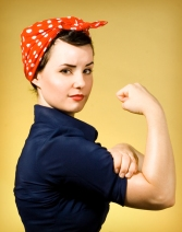 Rosie the Riveter Costume - Image from C.R.A.F.T.