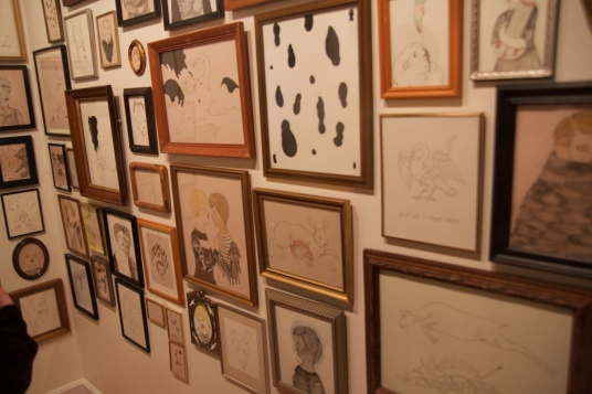 The dozens of works grouped together created an all new piece of art