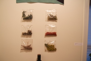 Small bags of herbs and weeds