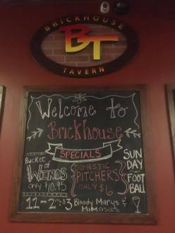 Brickhouse Tavern Welcome