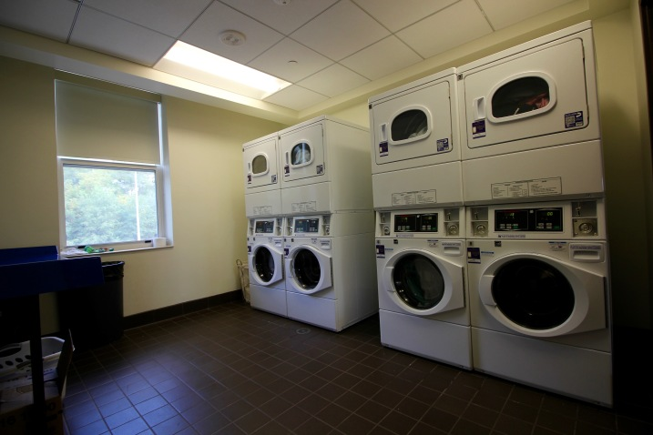 Each floor has its own laundry room.