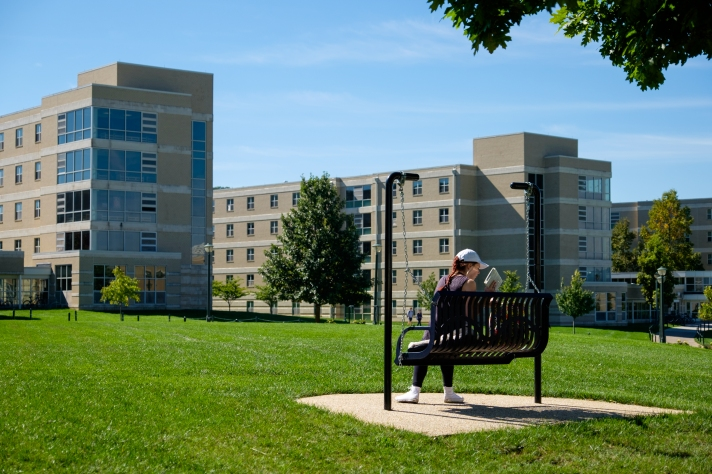 233452 Student Studying Outside on East Campus-1001