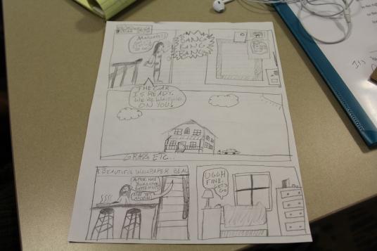 Drafts of comic