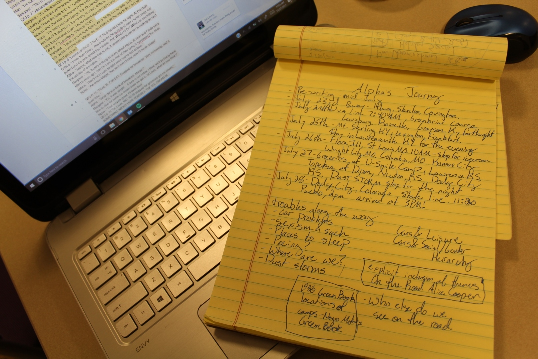 Notes and transcription of diary